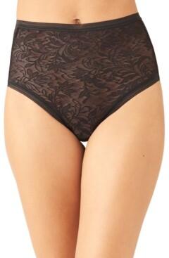 Wacoal Women's Net Effect Jacquard Lace Brief Underwear