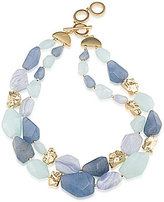 Carolee South Street Seaport Lace Agate Double-Row Choker Necklace