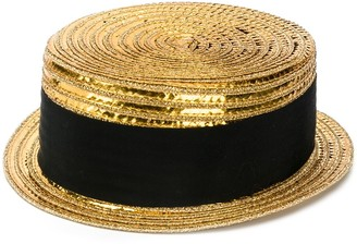 Saint Laurent Small Boater Hat