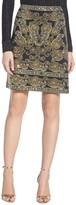 St. John Sequin Milano Knit A-Line Mini Skirt