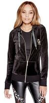 G by Guess GByGUESS Women's Peyton Velour Zip-Up Hoodie