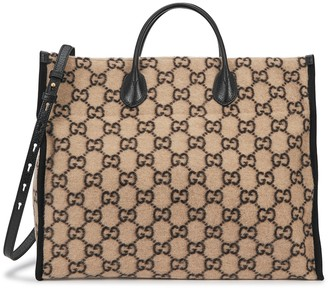 Gucci GG Large Monogrammed Wool Tote