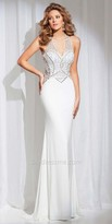 Tony Bowls Le Gala Cut Out Back Halter Prom Gown