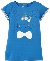 Billieblush Double Fabric Jersey Dress (Baby) - Bleu Marin-12 Months