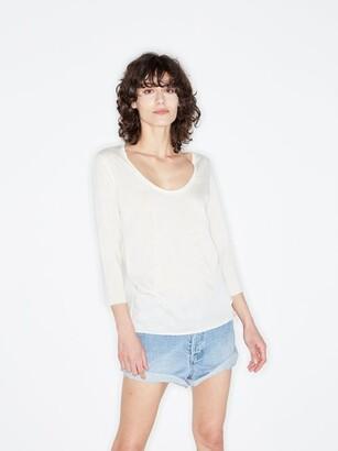 Raey Scoop-neck Wool-jersey T-shirt - Ivory