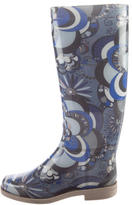 Emilio Pucci Abstract Printed Rain Boots