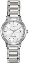 Citizen Eco-Drive Silhouette Sport Silvertone Stainless Steel Bracelet Watch