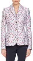 Altuzarra Fenice Floral-Print Two-Button Jacket, Multi