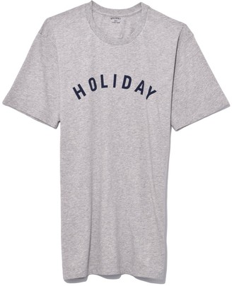 Holiday Logo T-Shirt in Grey