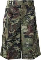 Givenchy camouflage printed Bermuda shorts