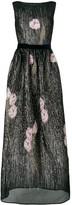 Talbot Runhof magnolia embellished long dress
