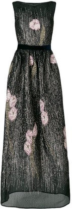 Talbot Runhof Magnolia Embellished Long Dress