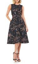 Kay Unger Brooke Back Cutout Fit & Flare Dress
