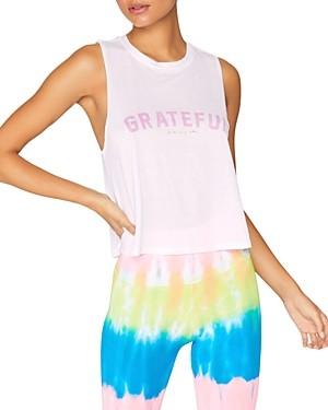 Spiritual Gangster Grateful Active Crop Tank Top