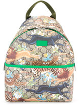 Gucci Kids wild cats GG Supreme print backpack