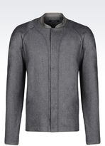 Emporio Armani Jacket In Combed Flannel