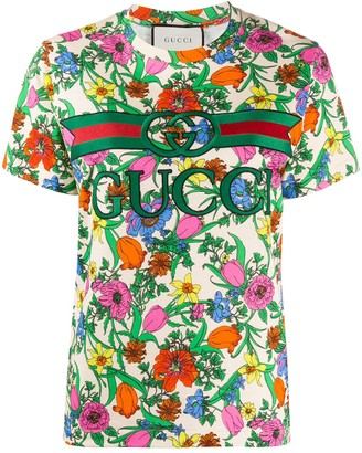 Gucci Pop Flora short-sleeved T-shirt