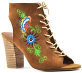 Sbicca Tan Embroidered Suede Calendre Sandal