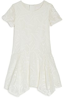 Chloé Girls' Lace Handkerchief Dress - Big Kid