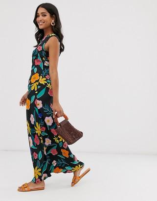 Neon Rose vintage maxi shift dress in retro floral
