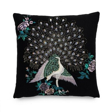 Natori Mayon Beaded Peacock Embroidery Pillow Case
