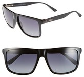 Gucci Men's 57Mm Sunglasses - Blue Palladium/ Grey Infrared