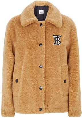 Burberry Monogram Motif Fleece Jacket