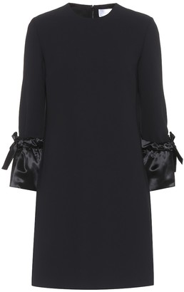 Victoria Victoria Beckham Satin-trimmed dress