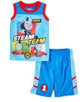Children's Apparel Network Blue Thomas & Friends Tank & Shorts - Toddler