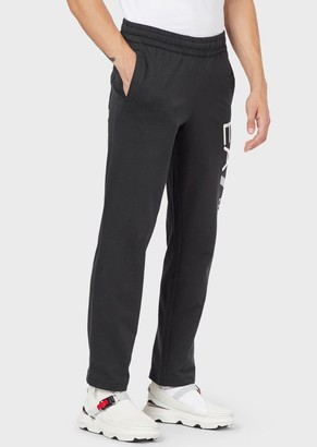 Emporio Armani Cotton Baby French Terry Joggers With Maxi Logo