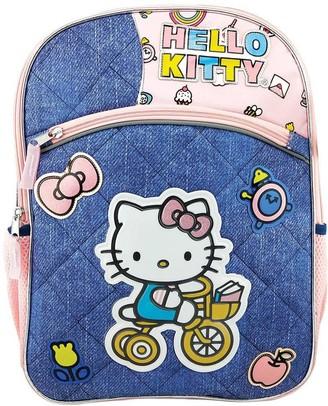 """Hello Kitty 16"""" Kids' Deluxe Backpack - Denim Blue"""