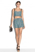 Milly Geometric Jacquard Bustier Top