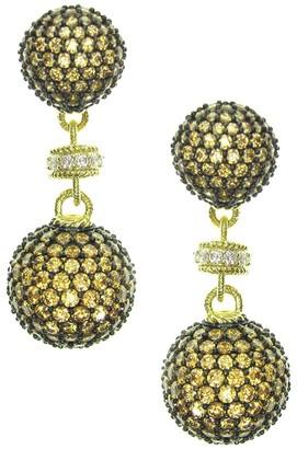 Judith Ripka 14K Yellow Gold-Clad Diamonique Drop Earrings
