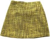 Alice + Olivia Alice & Olivia Yellow Wool Skirt for Women