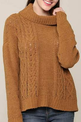 Be Cool Cowl-Neck Knitted Sweater