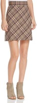 Theory Plaid Virgin Wool Mini Skirt