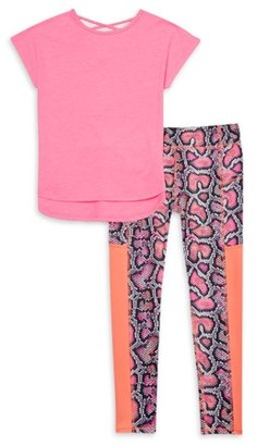 Athletic Works Girls 4-18 & Plus Active T-shirt & Printed Leggings
