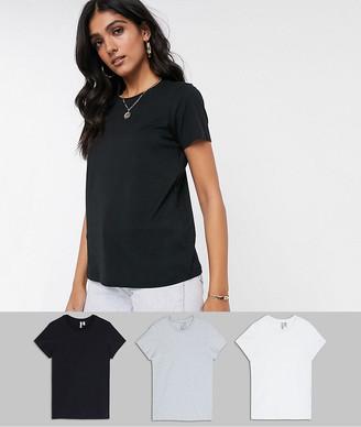 Asos Tall ASOS DESIGN Tall ultimate organic cotton crew neck t-shirt 3 pack SAVE