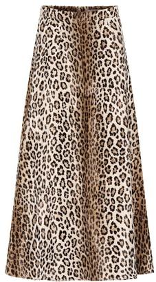 Emilia Wickstead Ionie leopard-print midi skirt