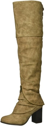 Two Lips Women's Too Liam Over The Over The Knee Boot Taupe 8 M US