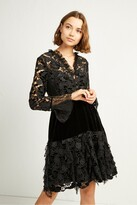 French Connection Cynthia Velvet Lace Mix Dress