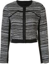 Diane von Furstenberg cropped zip jacket - women - Cotton/Acrylic/Polyamide/Polyester - 8