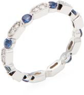 Rina Limor Fine Jewelry Women's Diamond & Blue Sapphire Eternity Band Ring
