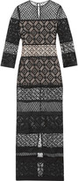 Temperley London Cruz paneled lace gown