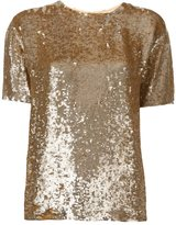 P.A.R.O.S.H. sequin embellished T-shirt - women - Viscose/PVC - XS