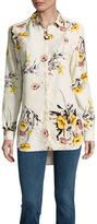 i jeans by Buffalo Floral Long Sleeve Tunic Top