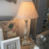 Cowshed Interiors Distressed Pale Grey Table Lamp