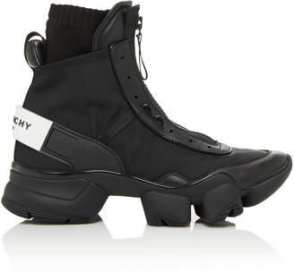 Givenchy Jaw Front-Zip High-Top Sneakers Size: 40