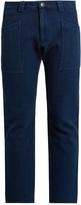 Blue Blue Japan Slim-fit cropped cotton trousers