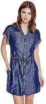 GUESS Women's Maren Chambray Shirtdress
